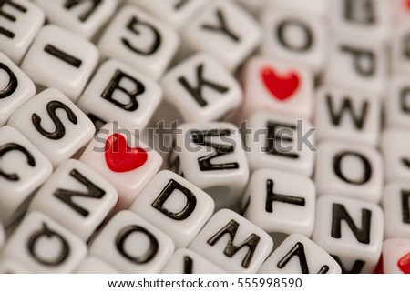 Letter and Heart Beads