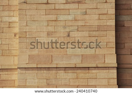 Letter at The Indian Gate Delhi India - stock photo