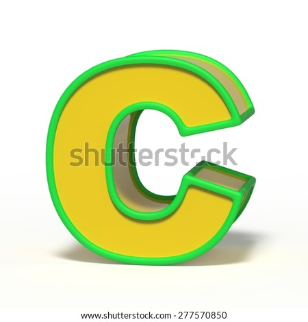 letter C isolated on white background - stock photo