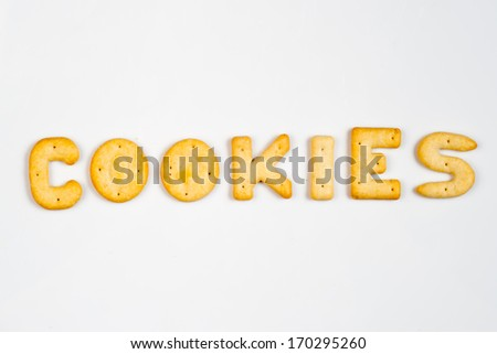 Letter cookies - COOKIES - stock photo