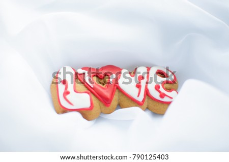 Letter Cookies Valentines Day Wedding Day Stock Photo (Royalty Free ...