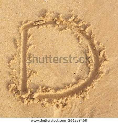 """letter """"D"""" in the sand - stock photo"""