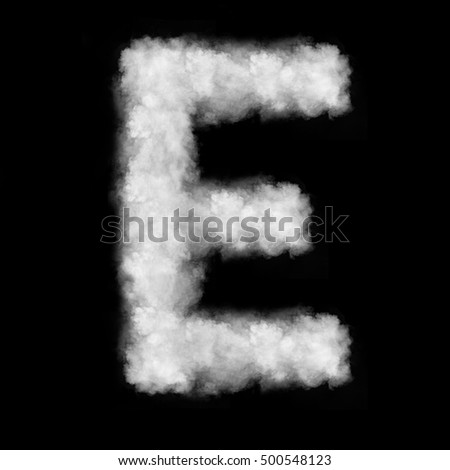 letter E made of the clouds