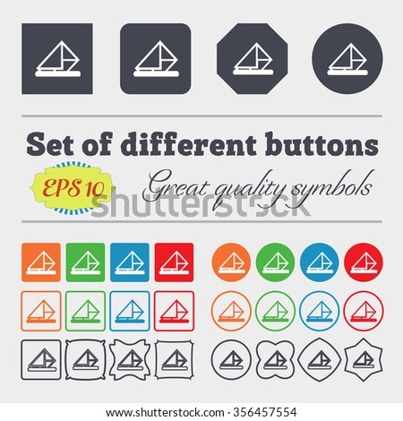 letter, envelope, mail icon sign. Big set of colorful, diverse, high-quality buttons. illustration - stock photo