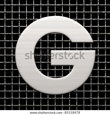 Letter G from metal net alphabet. There is a clipping path - stock photo