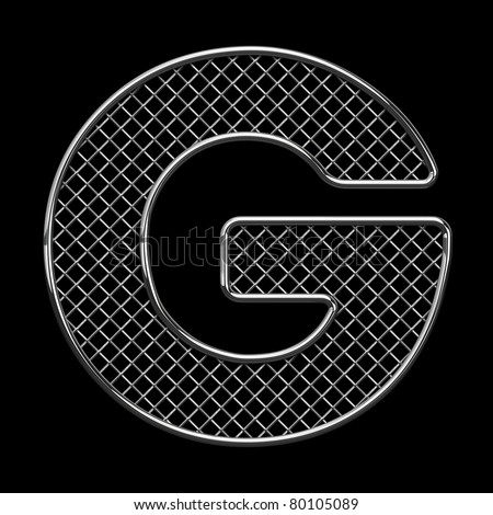 Letter G from metal wire alphabet for car tuning. There is a clipping path - stock photo