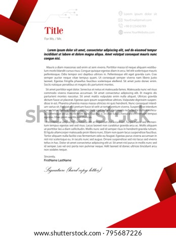 Letter head design red version stock illustration 795687226 letter head design red version spiritdancerdesigns Choice Image