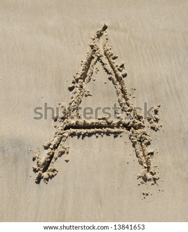 letter is part of a set, a designer can write whatever they want into the sand.  whole alphabet and blank sand is available check my lightbox for the rest.