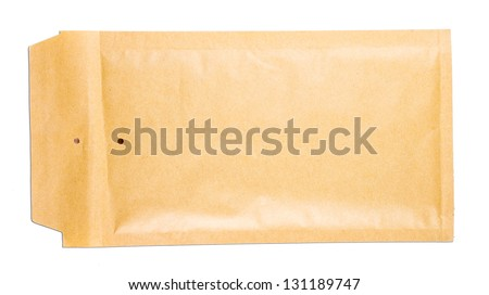 Letter isolated on white background