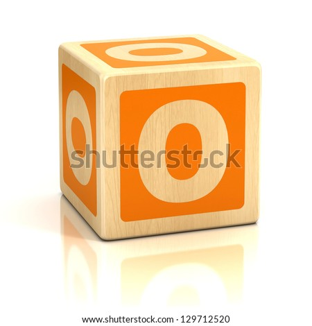 letter o alphabet cubes font - stock photo