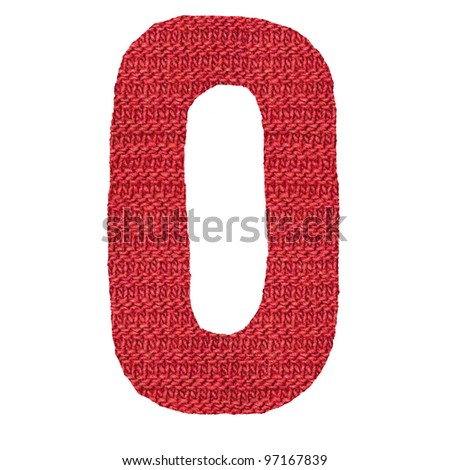 letter O alphabet, knitted spokes structure - stock photo