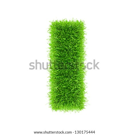 letter of grass alphabet - stock photo
