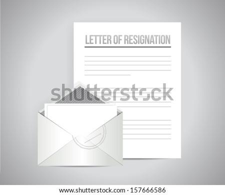 Letter resignation papers illustration design over stock letter of resignation papers illustration design over a grey background spiritdancerdesigns Gallery