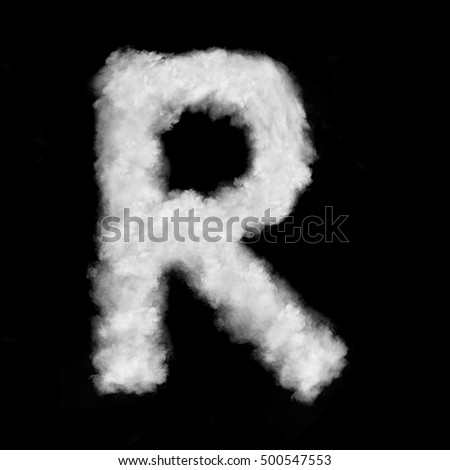 letter R made of the clouds