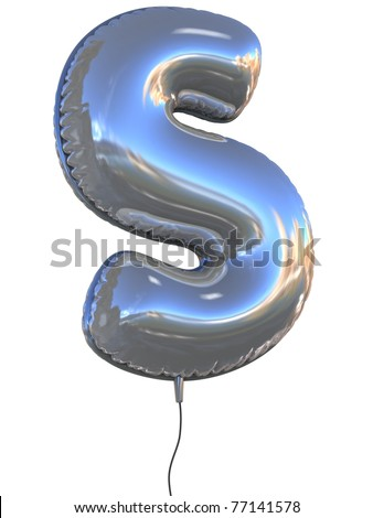 letter S balloon 3d illustration - stock photo