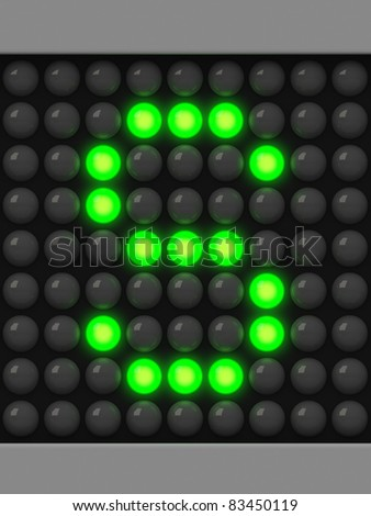 Letter S from green creeping line alphabet - stock photo
