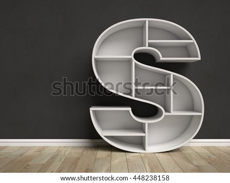 S shape stock images royalty free images vectors for Letter shaped shelves