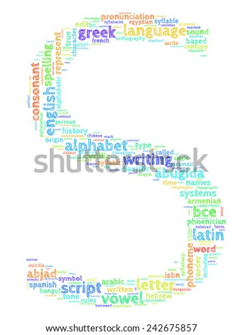 Letter S (Word Cloud)
