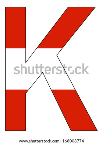 Letter series with flag inside - Austria