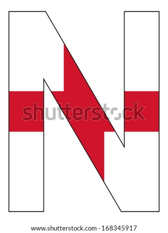 Letter series with flag inside - England