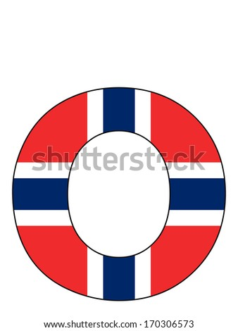 Letter series with flag inside - Norway