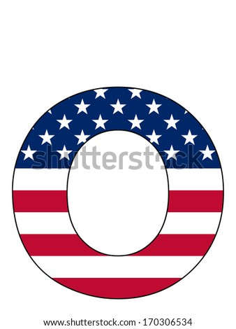 Letter series with flag inside - United States