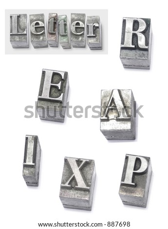 letter - set type - stock photo