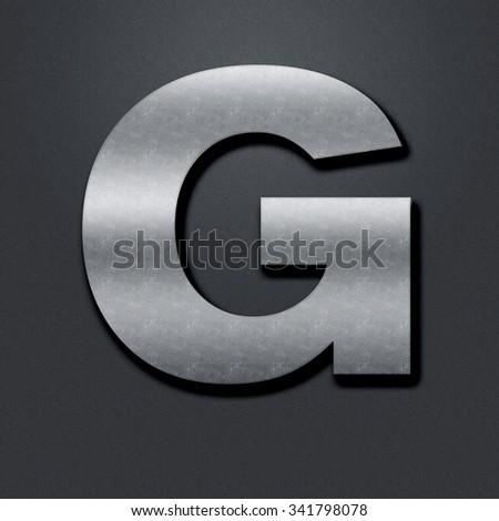 Letter shabby metal chromium. Letter shabby metal G - stock photo