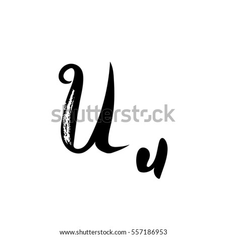Letter U Of The Alphabet Font Calligraphy