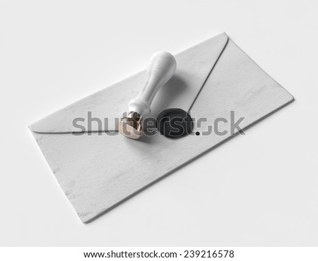 Letter with stamp MockUp - stock photo