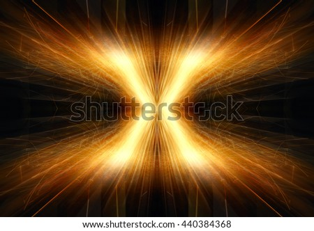 letter X with sparks - stock photo