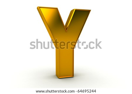 letter Y in gold