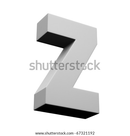Letter Z from solid alphabet set2. There is a clipping path