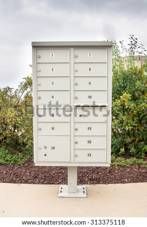 letterbox or incoming and outgoing  Mail box for easy distribution to office or apartments - stock photo