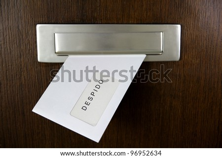 Letterbox with Dismissal Letter