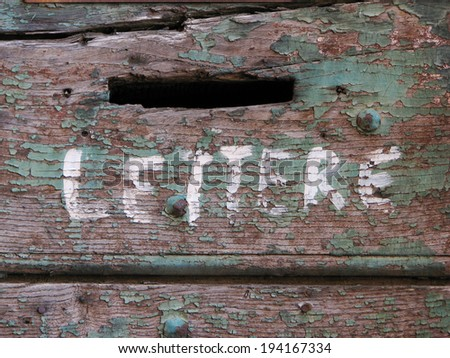 Lettere / Letters - Mail hole - stock photo
