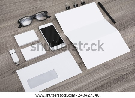 Letterhead and Identity design mockup - stock photo