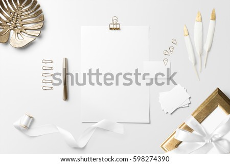 Letterhead business card scene mockup top stock photo edit now letterhead business card scene mockup top view with decor elements feathers and colourmoves