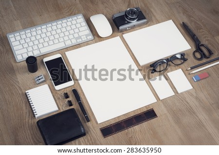 Letterhead design mockup - stock photo