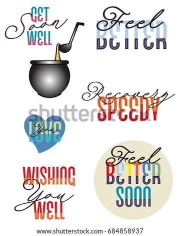 lettering with get well messages