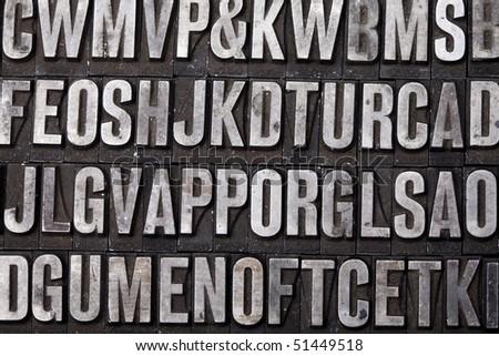 Letterpress blocks - stock photo