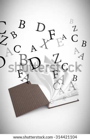 letters against white background with vignette