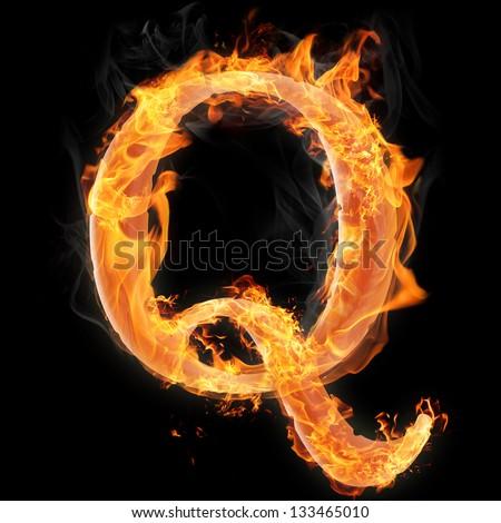 Letters symbols fire letter q stock illustration 133465010 letters and symbols in fire letter q reheart Gallery