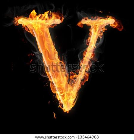 Letters Symbols Fire Letter U Stock Illustration 133464965 ...