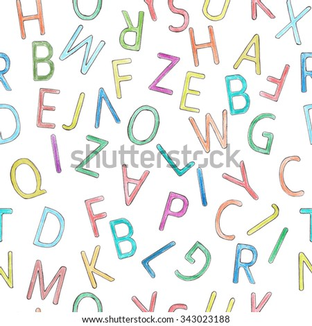 Letters background seamless
