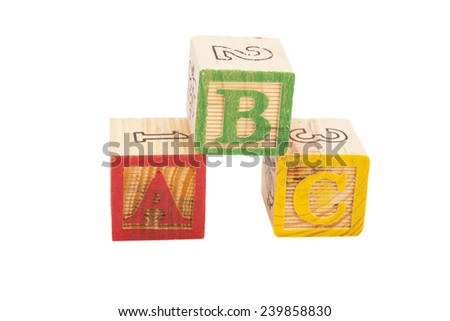 Letters Blocks ABC - stock photo