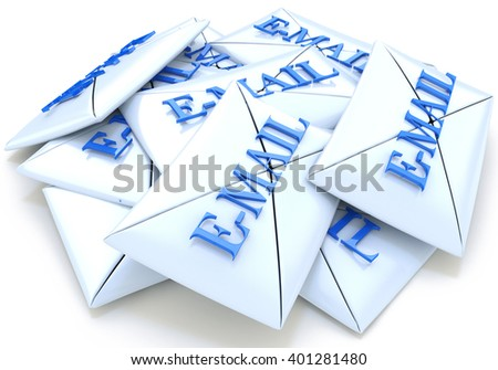 Letters email. 3D rendered illustration - stock photo