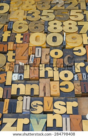 Letters for printing - stock photo