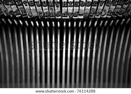 letters from an old typewriter - stock photo