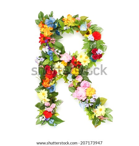 Alphabet Flowers Stock Images RoyaltyFree Images